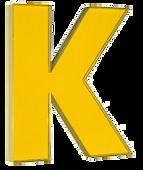Пластиковая буква К