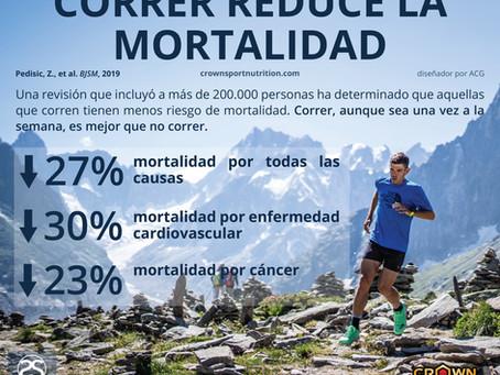 Correr reduce la mortalidad en un 30%