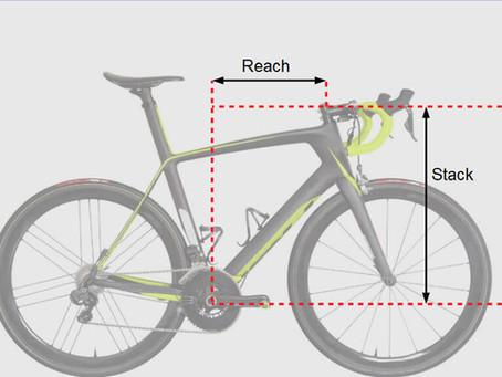 Qué son el stack y el reach de una bicicleta