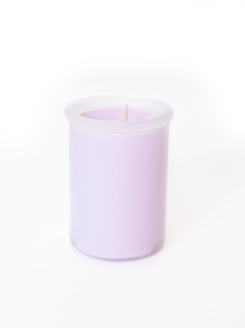 Frosted Glass Lavender Soy Candle