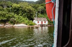Vista da casa na Costa da Lagoa, Florianópolis, SC