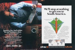 1983 . CP Air . McKim Advertising . Art Direction: Randy Bennett