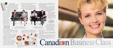 1990 . Canadian Airlines . McKim Advertising . Art Direction: Brian Musgrove