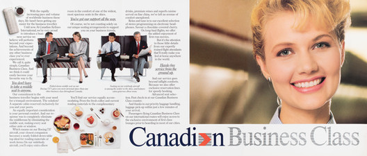 1990 . Canadian Airlines . McKim Advertising . Art Direction: Brian Musgrove