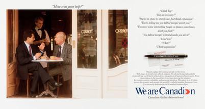 1987 . Canadian Airlines .  McKim Advertising .  Art Direction: Bill Cozens