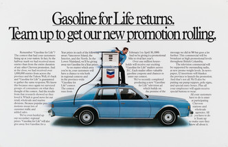 1991 . Chevron . McKim Advertising . Art Direction: Brian Musgrove