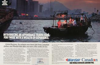 1991 . Canadian Airlines . McKim Advertising . Art Direction: Randy Bennett