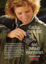 1984 . Pentax .  McKim Advertising .  Art Direction: Brian Musgrove