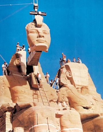 Surélévation Temples Abou Simbel