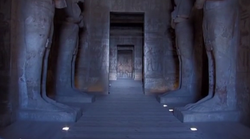 au Coeur du Temple Abou Simbel, chef-d'oeuvre du Pharaon RAMSES II