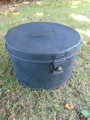 Black Metal Hat Box