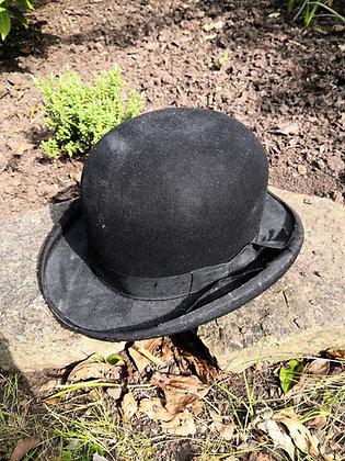 Vintage Black Bowler Hat