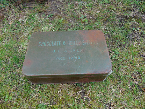 Vintage Chocolate & Boiled Sweets Tin