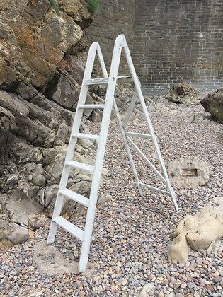 White Wooden Step Ladder