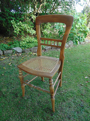 Walnut Caned Chair