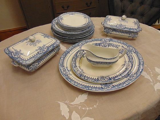 Blue & White Dinner Service