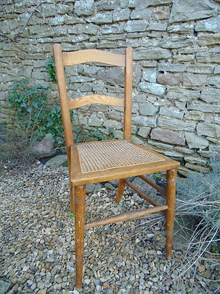 Light Wood Caned Chair