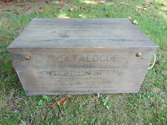 Wooden Box with Print