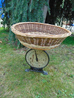 Vintage Scales with Wicker Basket