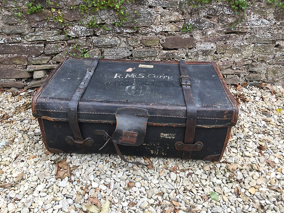 Large Leather Suitcase