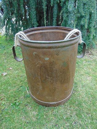Metal Bucket with Rope Handles