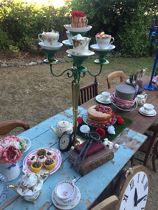 Alice in Wonderland Style Candlesticks