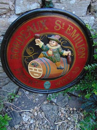 Wooden Barrel Display Board