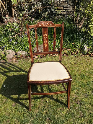 Cream Covered Fabric Chair