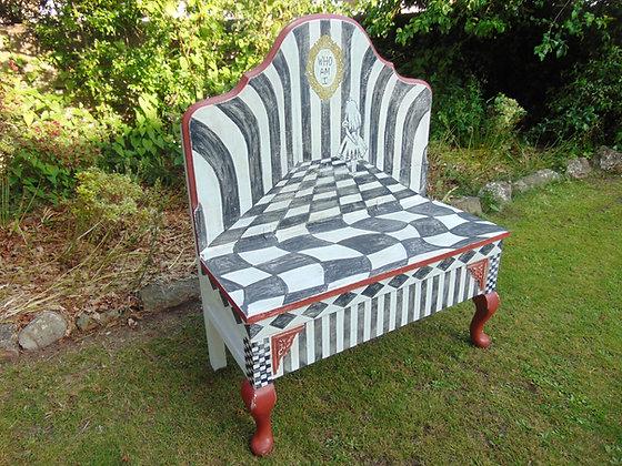 Alice in Wonderland Style Bench