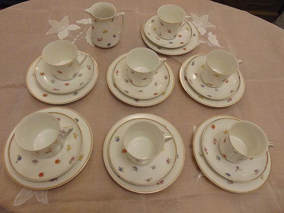 Multi Coloured Floral Tea Set