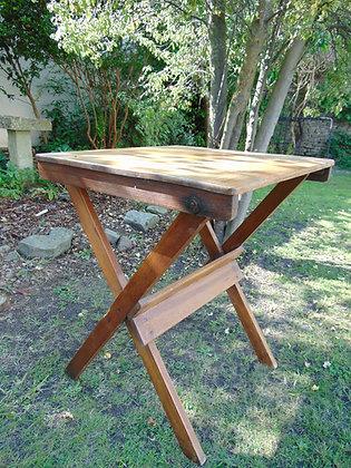 Small Folding Oak Table