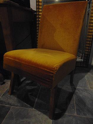 1960's Orange Velvet Chair