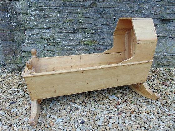 Child's Pine Rocking Crib