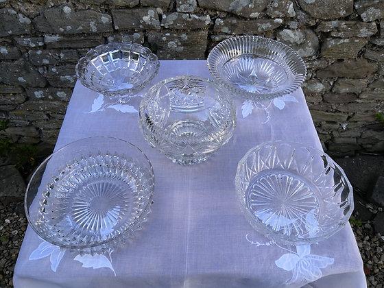 Large Glass Bowls