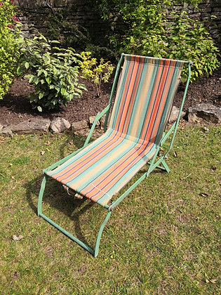 1950's Striped Deckchair