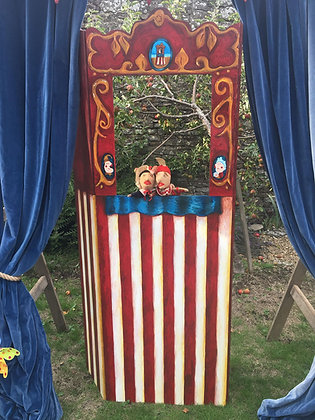 Punch & Judy Theatre with Vintage Puppets
