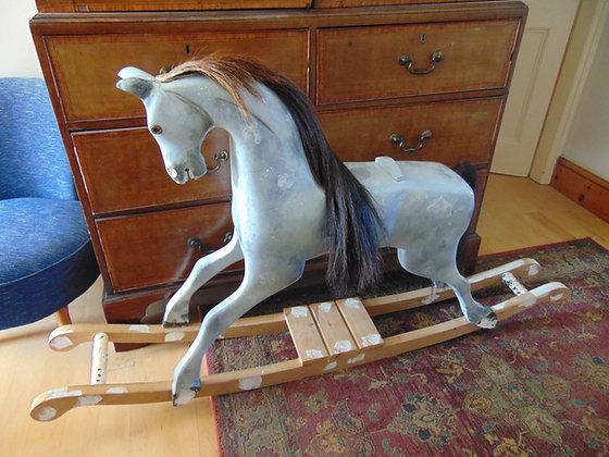Grey Rocking Horse