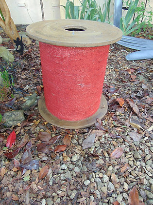 Oversized Red Cotton Reel