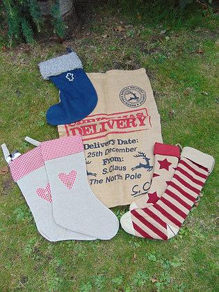 Selection of Christmas Stockings