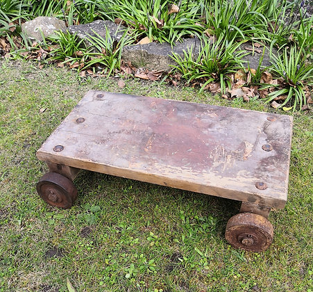 Small Vintage Wooden Trolley