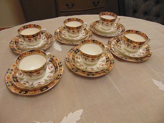 Red & Blue Tea Set