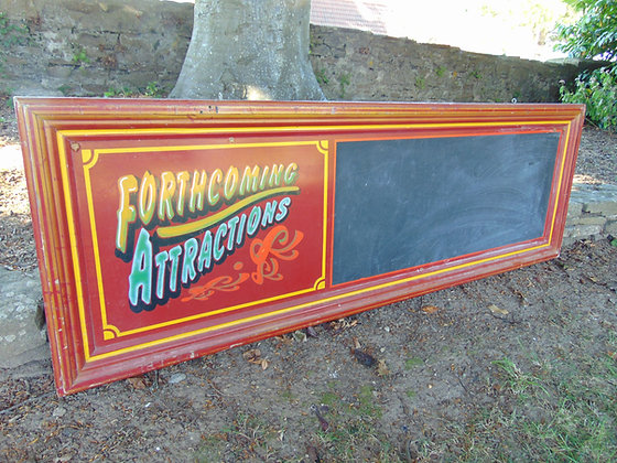 Funfair 'Forthcoming Attractions' Blackboard