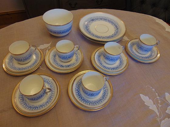 Blue Patterned Tea Set