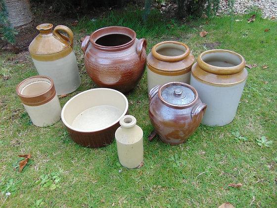Selection of Earthen Ware Pots
