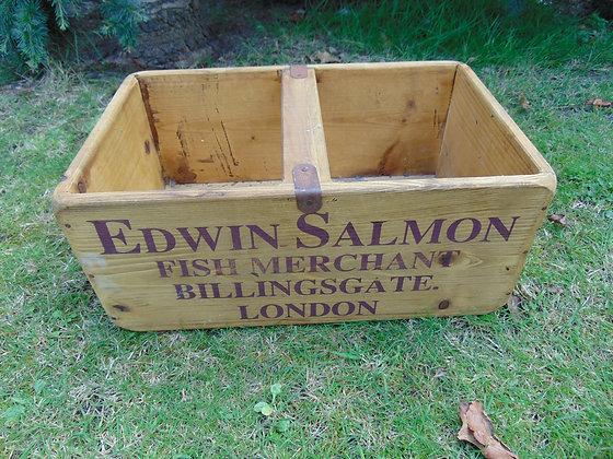 Vintage Style Fish Merchant's Crate