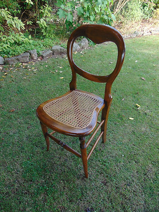 Wooden Chair with Caned Seat