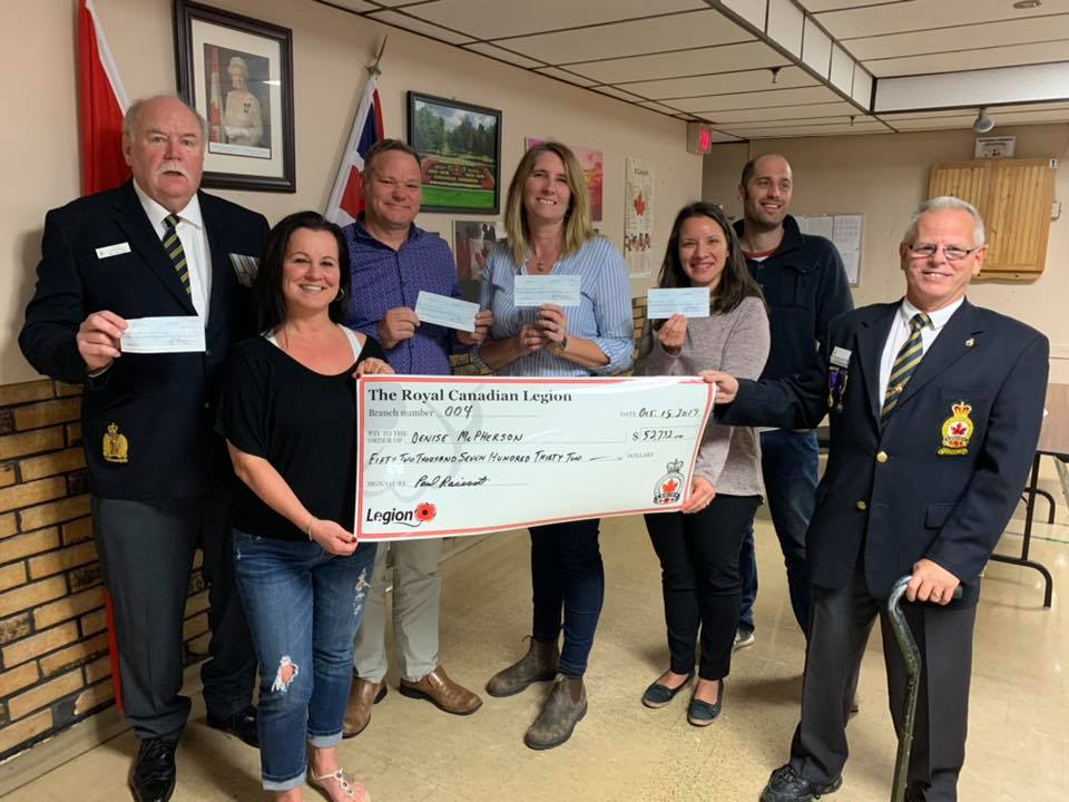 Welland Legion Catch The Ace Donation