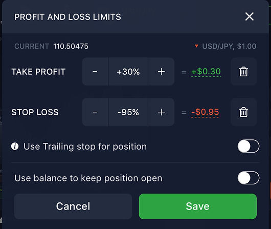 Stp-Lss and Take-Profit for forex trading.
