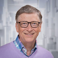 Bill Gates holds bitcoin.