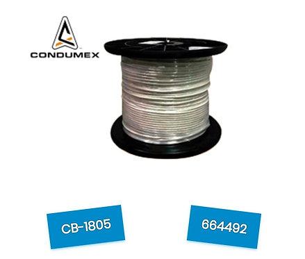 BOBINA UTP CAT.5E CONDUMEX/USO INTERIOR/EXTERIOR /4 PARES/24 AWG/100 COBRE/305
